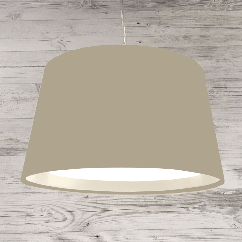 XL French Drum Pendant Taupe